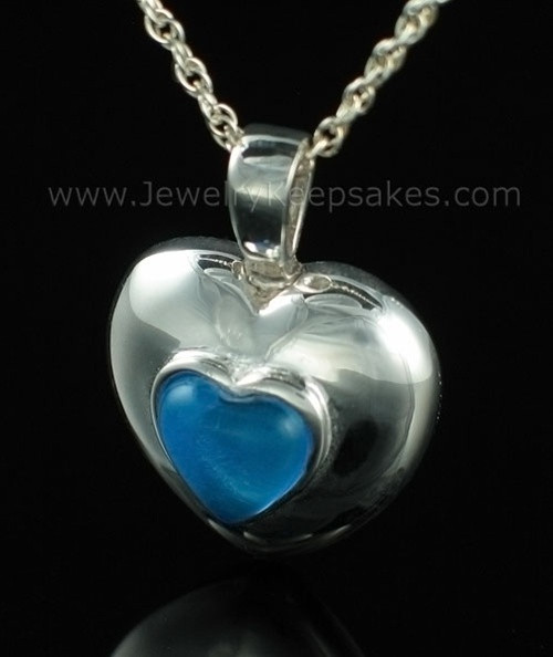 Keepsake Pendant Sterling Silver September Heart