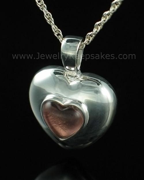 Keepsake Pendant Sterling Silver October Heart