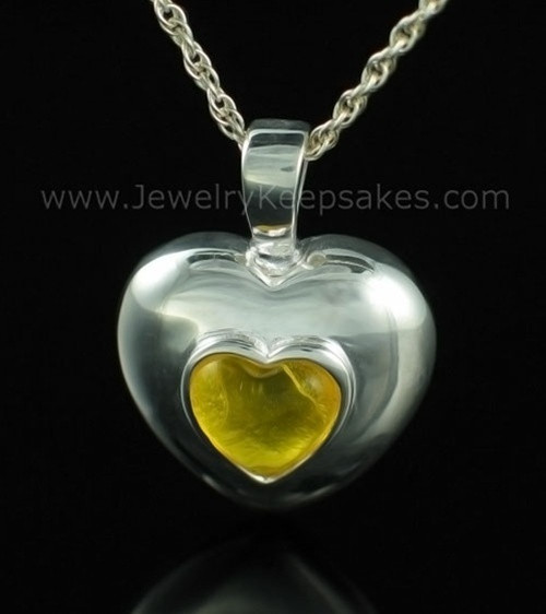 Keepsake Pendant Sterling Silver November Heart