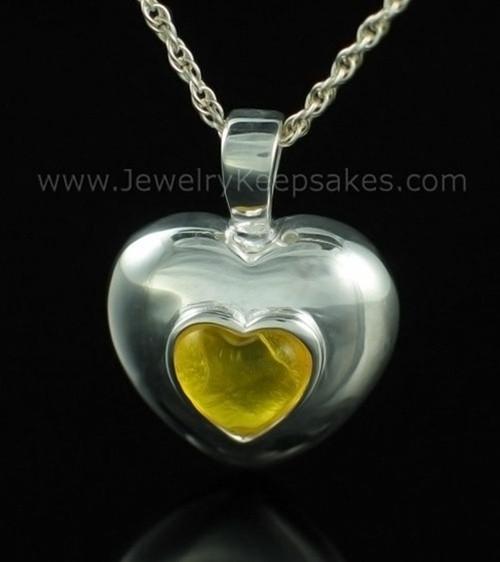 Keepsake Pendant Sterling Silver November Heart