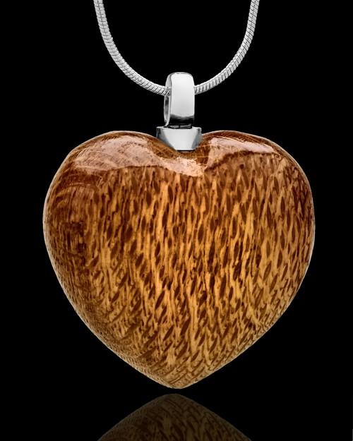 Cremains Keepsake Light Timber Heart - Eternity Collection