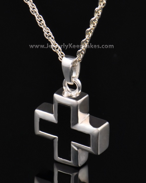 Cremation Necklace Jewelry Sterling Silver Mystic Cross Keepsake