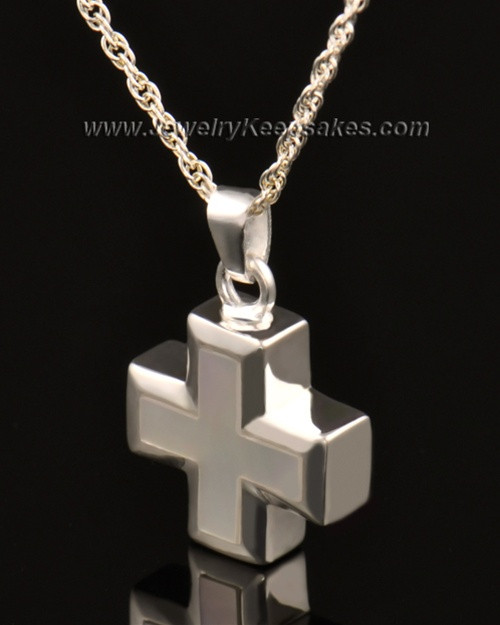 Keepsake Jewelry 14k White Gold Heavenly Cross