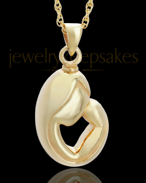 Urn Pendant Gold Plated Caress Keepsake