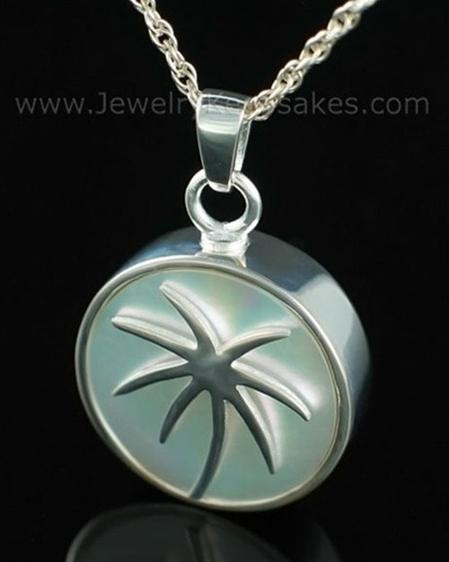 Memorial Locket Sterling Silver Tropical Keepsake