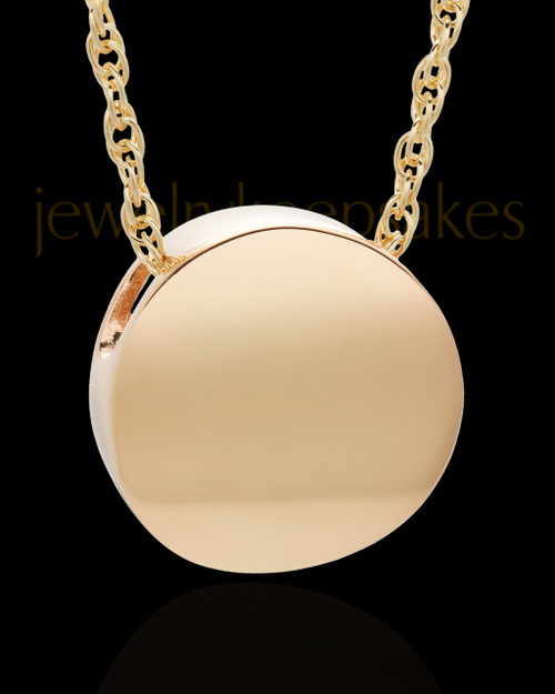 Cremation Jewelry Gold Plated Spherical Keepsake