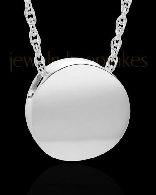 Cremation Jewelry 14K White Gold Spherical Keepsake