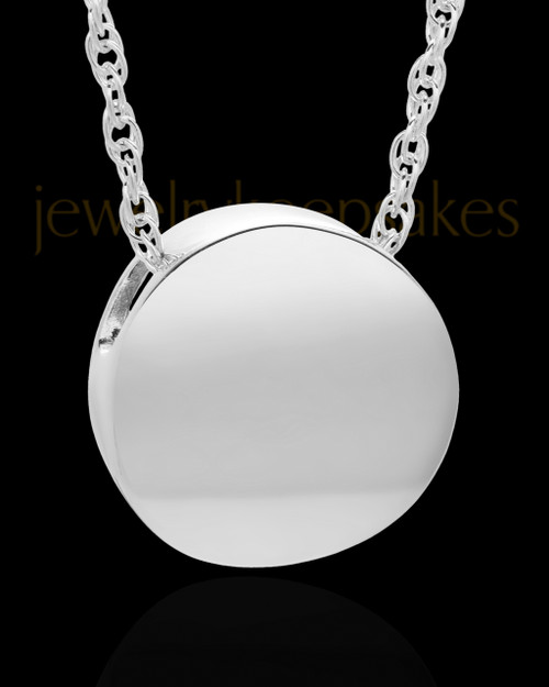 Cremation Jewelry 14K White Gold Spherical Keepsake