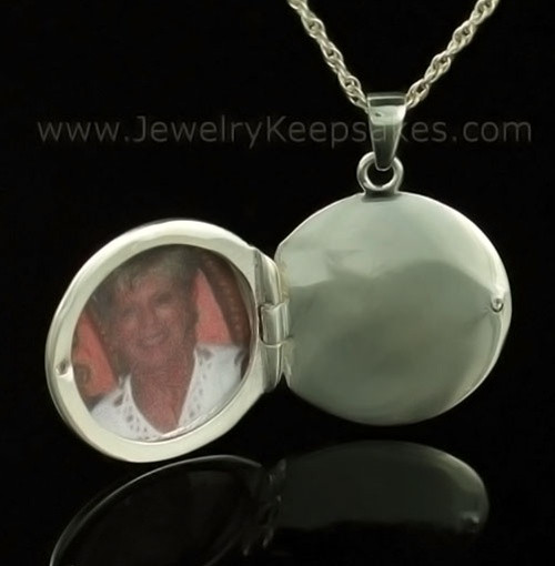 Remembrance Jewelry 14K White Gold Etched Sphere Keepsake