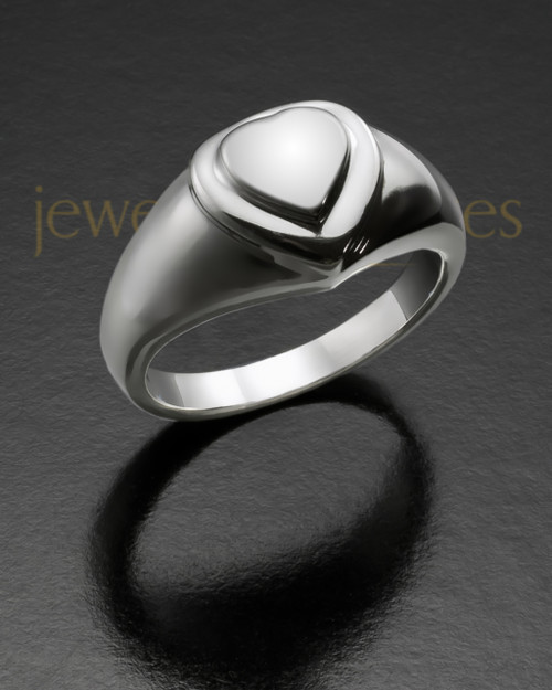 Ladies Silver Forever Love Memorial Ring