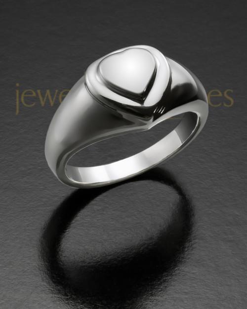Ladies Silver Forever Love Memorial Ring