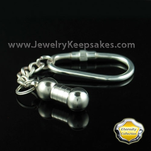 Memorial Keepsake Keychain Silver Plated Joyful - Eternity Collection