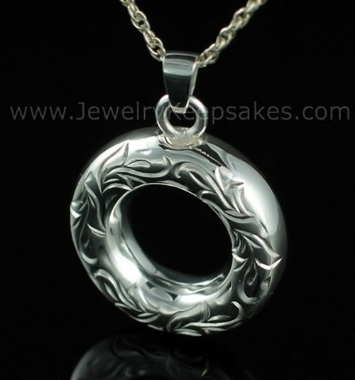 Cremation Necklace Sterling Silver Everlasting Etched Keepsake