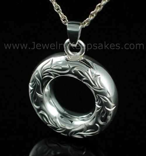 Cremation Necklace Sterling Silver Everlasting Etched Keepsake