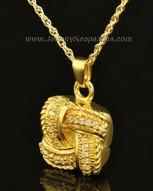Cremation Keepsake 14K Gold Interlace
