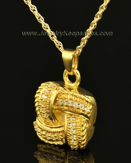 Cremation Keepsake 14K Gold Interlace
