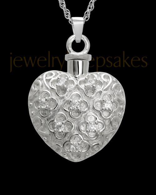 Necklace Urn Sterling Silver Twinkle Heart