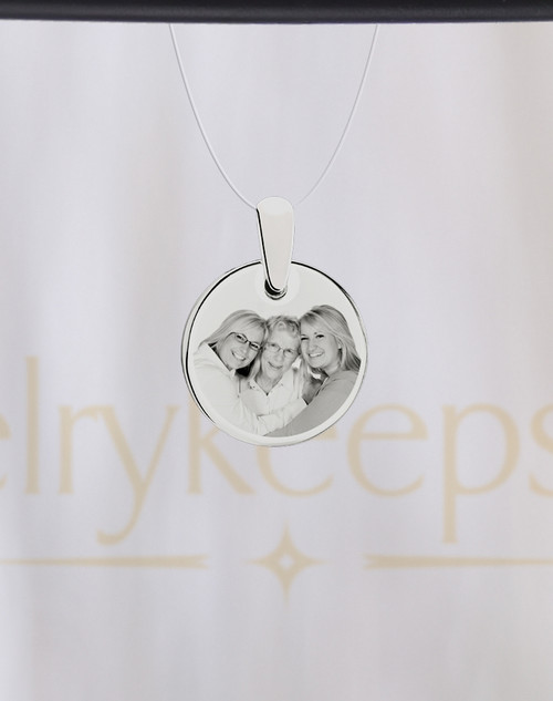 Stainless Round Reflection Photo Engraving