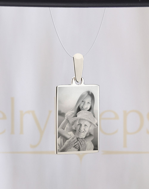 Rectangle Stainless Reflection for Photo Engrave