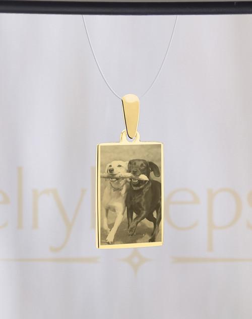 Rectangle Pet Gold Reflection Photo Keepsake