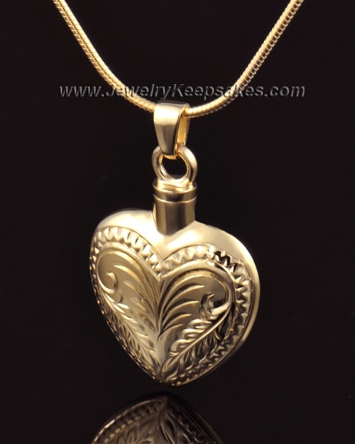 Ash Jewelry 14K Gold Darling Heart