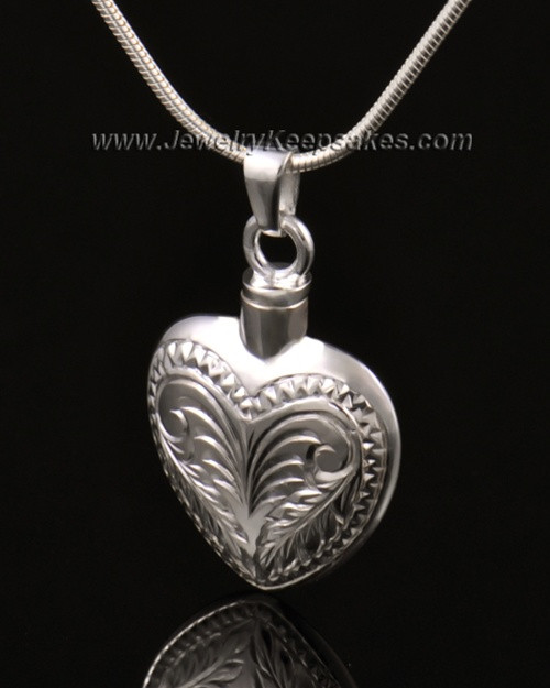 Ash Jewelry 14K White Gold Darling Heart