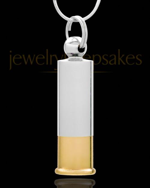 Keepsake Cremation Jewelry Silver Plated Shotgun Shell