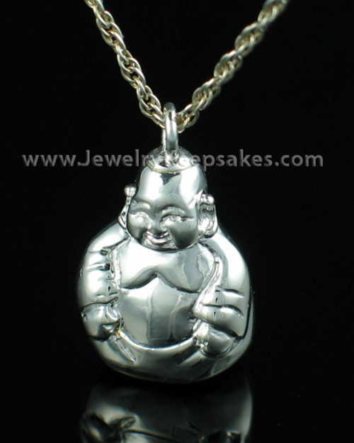 Memorial Necklace Sterling Silver Budda Keepsake