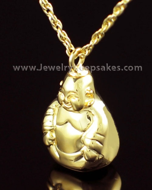 Memorial Necklace Gold Vermeil Budda Keepsake