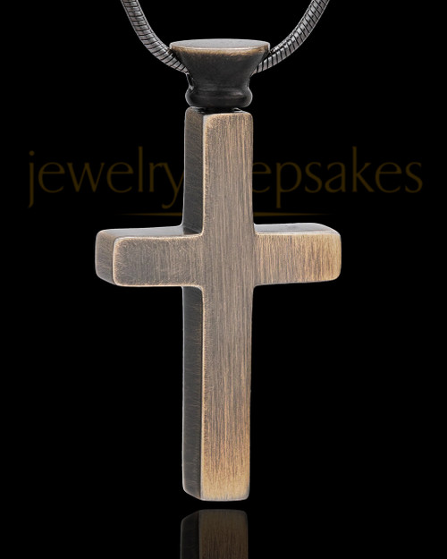 Urn Jewelry Stainless Steel Antique Brass Memorable Cross