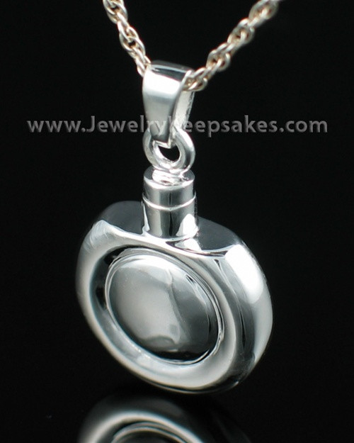 Remembrance Jewelry Sterling Silver Double Round Keepsake
