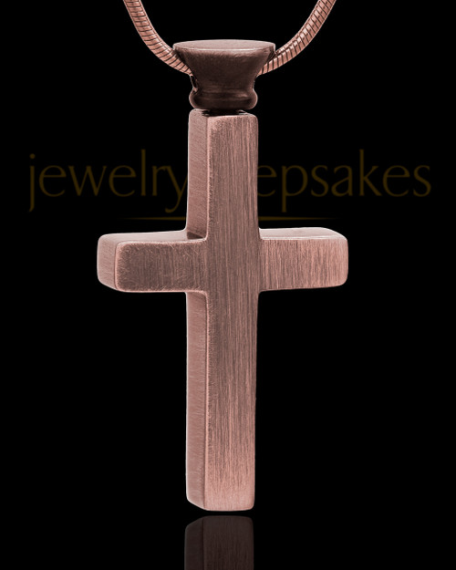 Remembrance Pendant Stainless Steel Antique Copper Memorable Cross