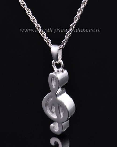 Jewelry Urn Sterling Silver Music Note Keepsake