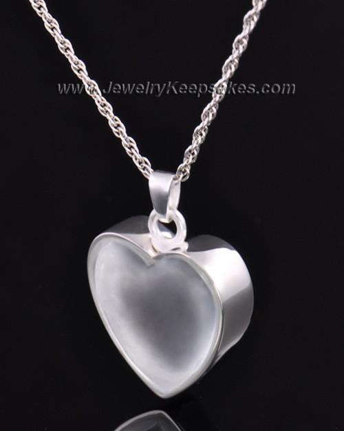 Keepsake Pendant Sterling Silver Trim Heart