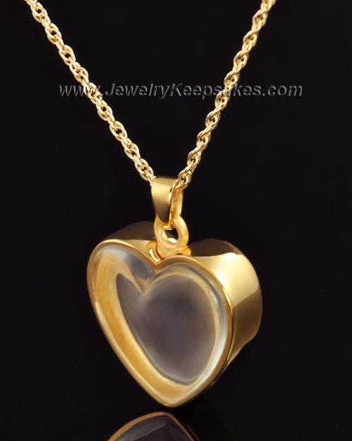 Keepsake Pendant Gold Vermeil Trim Heart