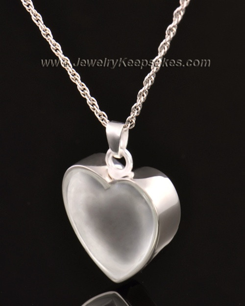 Keepsake Pendant 14k White Gold Trim Heart