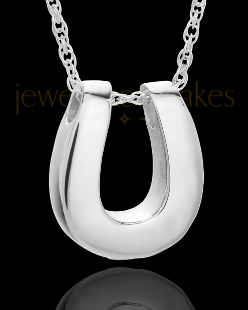 Cremains Locket 14K White Gold Lucky Keepsake