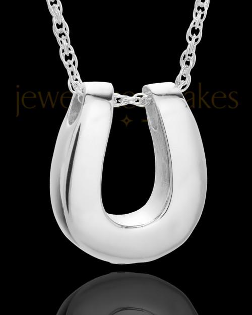 Cremains Locket 14K White Gold Lucky Keepsake