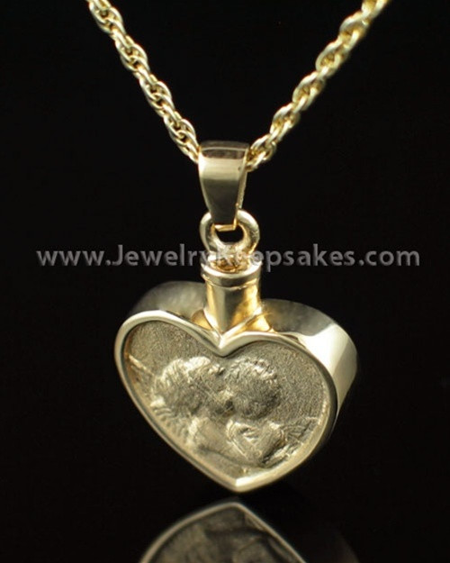 Memorial Pendant Gold Vermeil True Love Keepsake