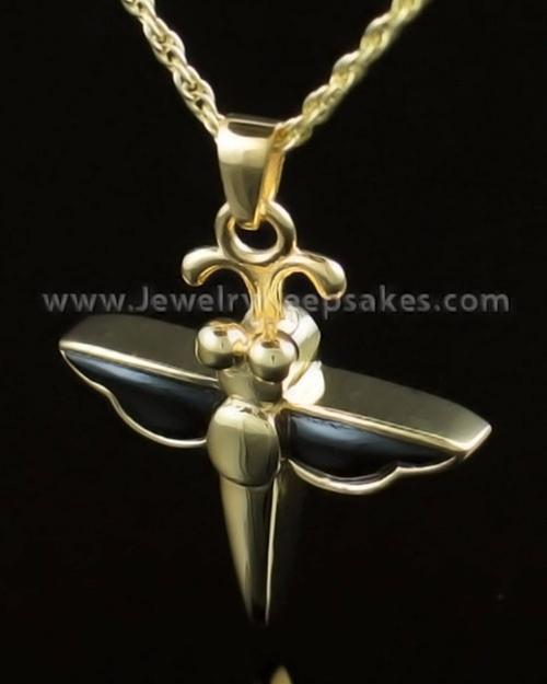 Jewelry Urn Gold Vermeil Night Dragon Keepsake