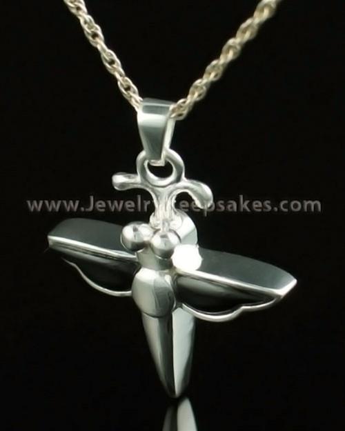 Jewelry Urn 14K White Gold Night Dragon Keepsake