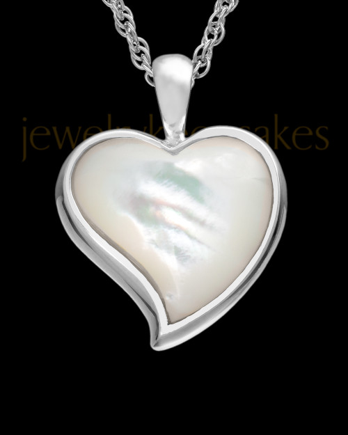 Cremated Remains Jewelry Sterling Silver Dewy Heart Keepsake