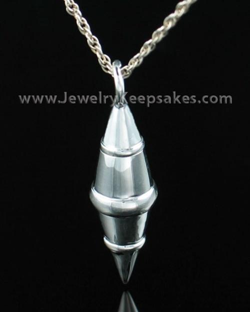 Ash Pendant Sterling Silver Regal Cylinder Keepsake