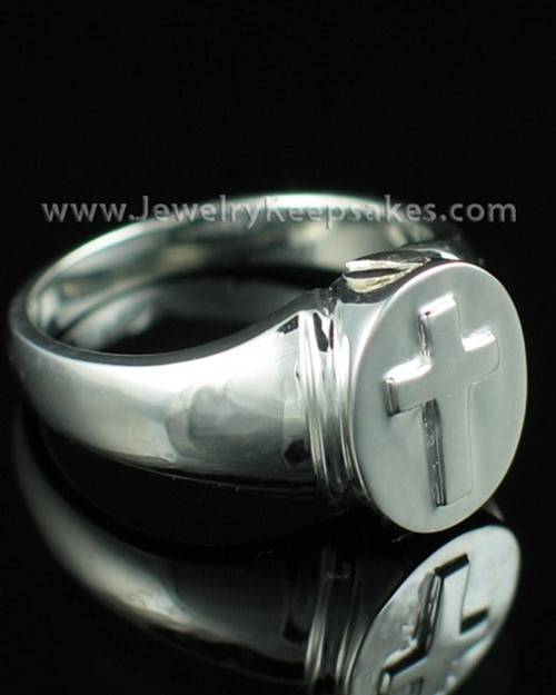 Men's Silver Divinity Cremation Ring