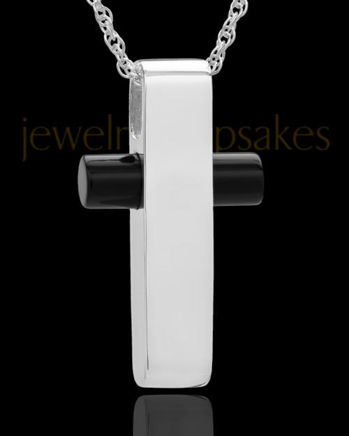 Necklace Urn Sterling Silver Barred Cross Keepsake