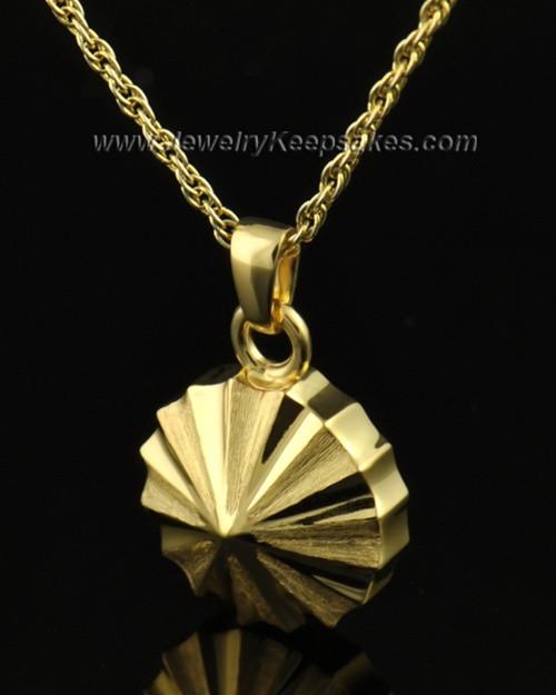 Memorial Urn Jewelry 14K Gold Pinwheel