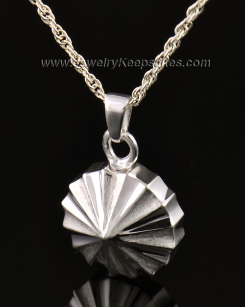 Memorial Urn Jewelry 14K White Gold Pinwheel