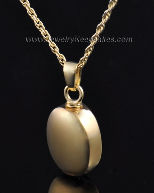 Funeral Jewelry 14K Gold Plated Oblique Keepsake