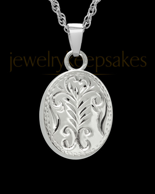 Cremation Ash Jewelry Sterling Silver Majesty Round Keepsake