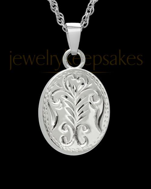 Cremation Ash Jewelry 14k White Gold Majesty Round Keepsake